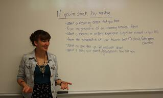 Ms Speed reviews options for overcoming writer's block.