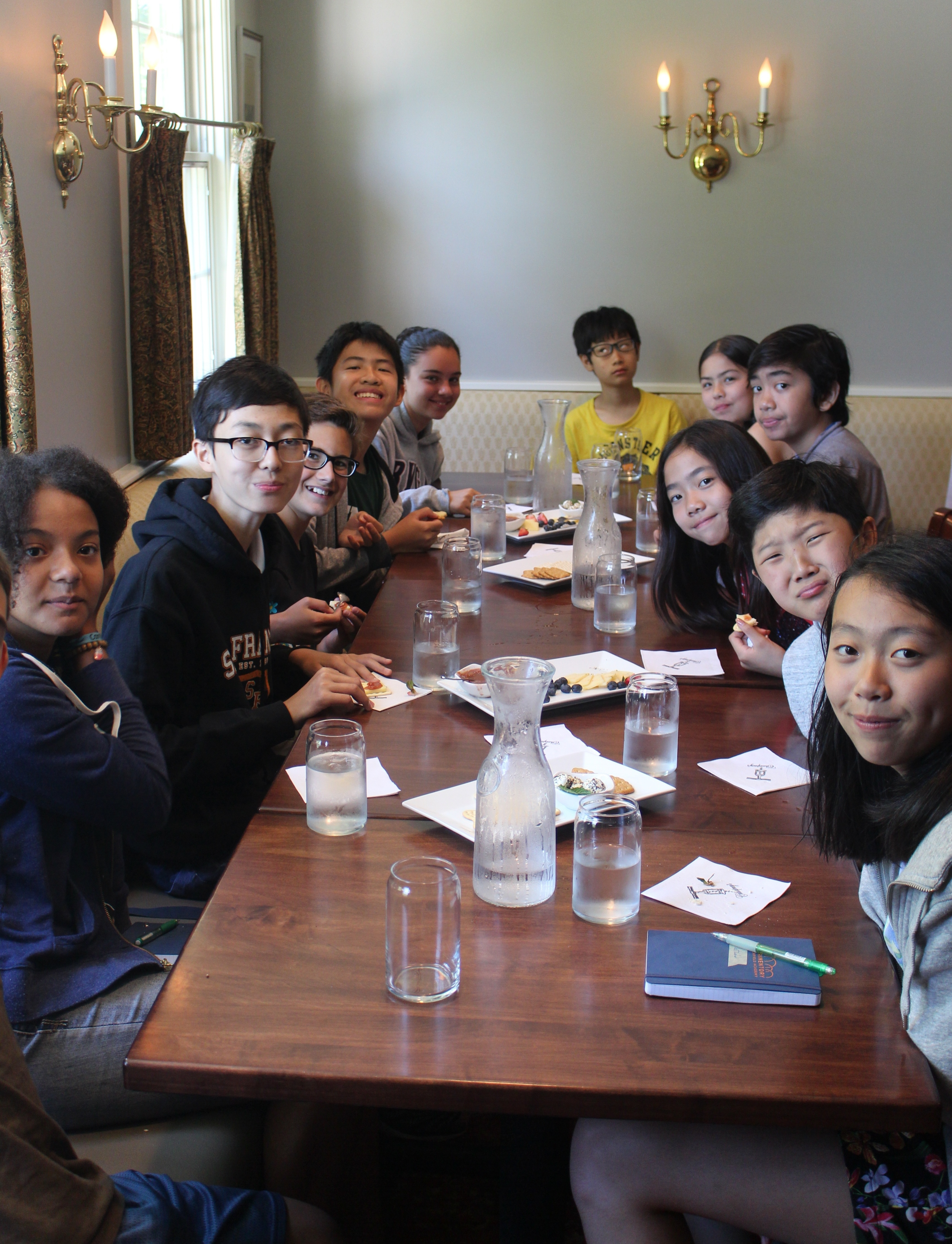 Students learn about the infusion of culture and food at Chapneys in Deerfield, MA.