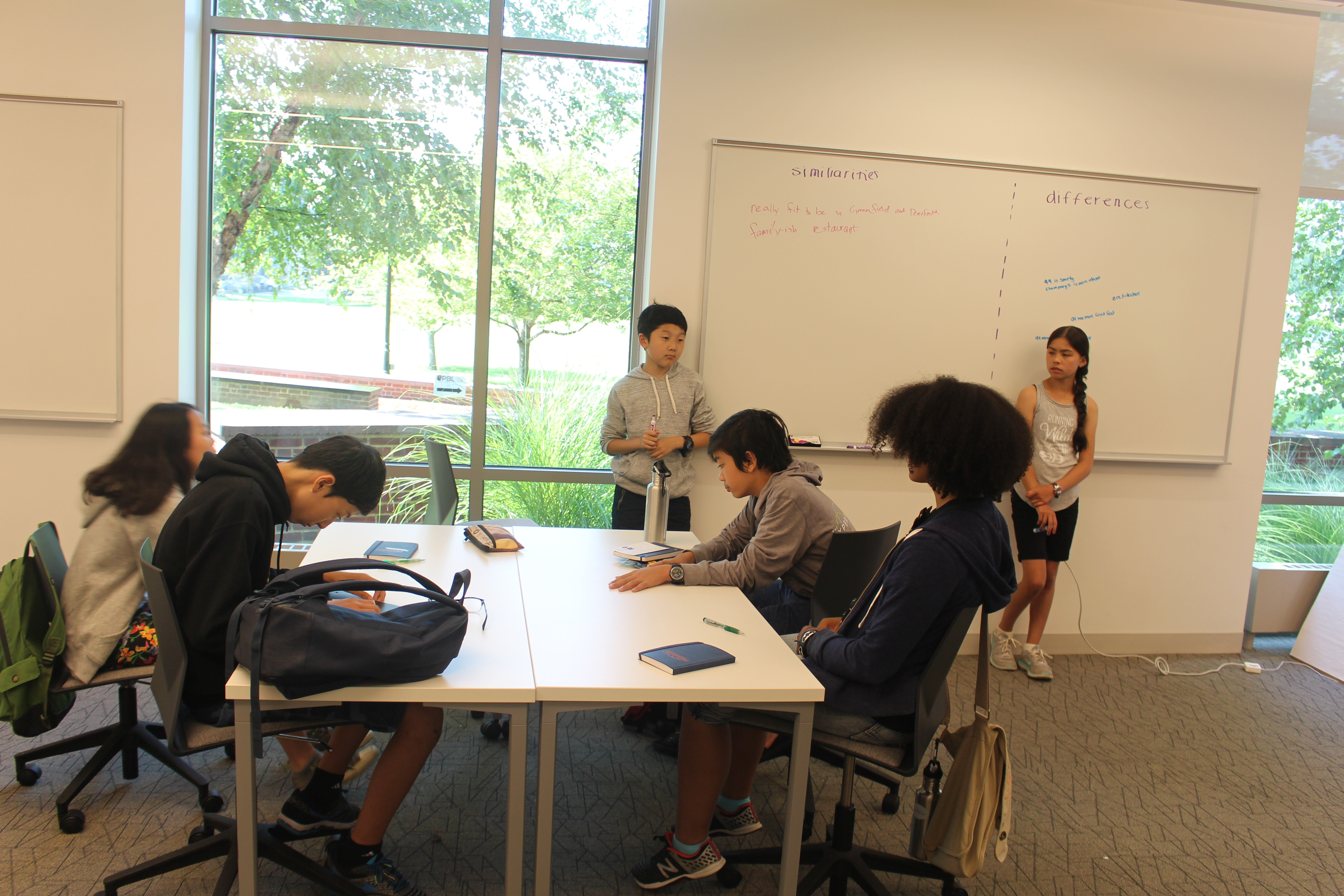 Back in the classroom, students discuss what they learned about sustainable food and culture.