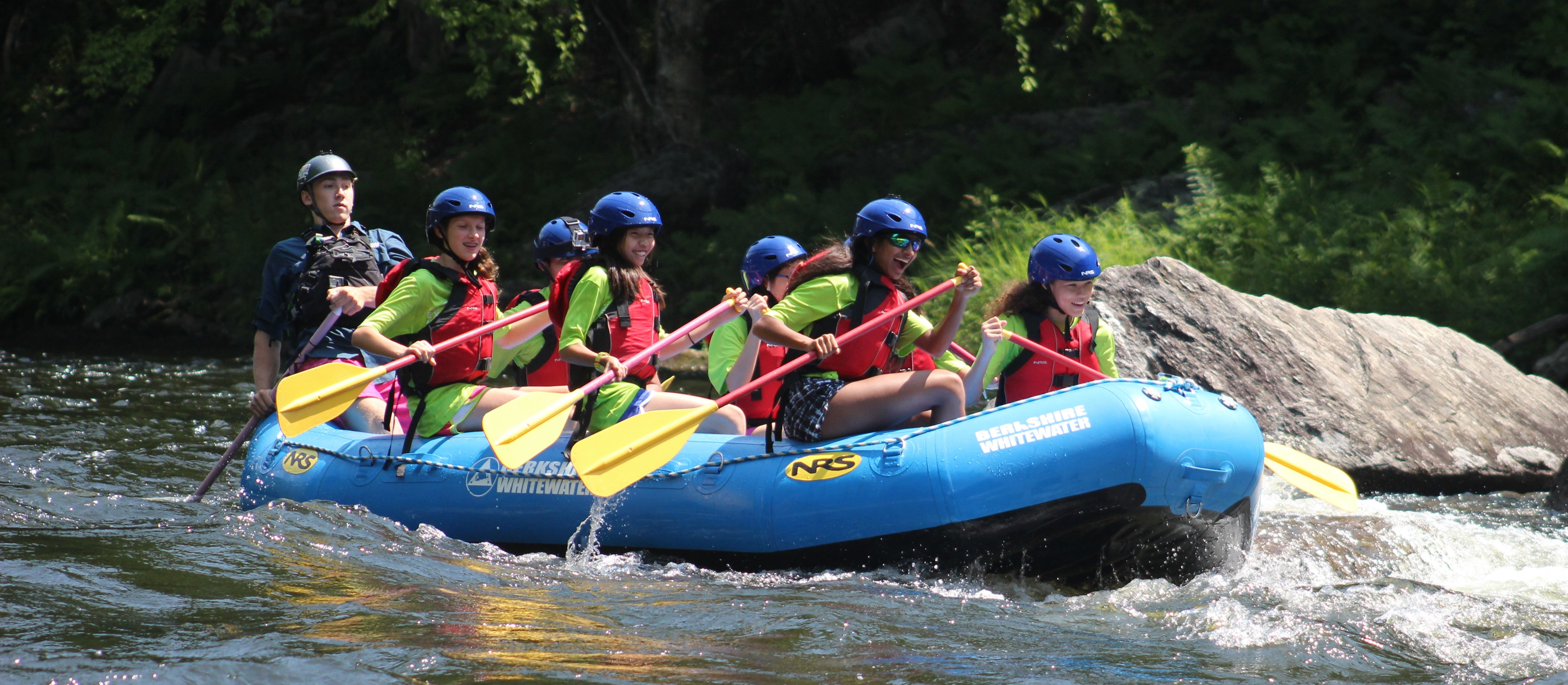 It was a great day to get off campus and cool off rafting down the Deerfield River.