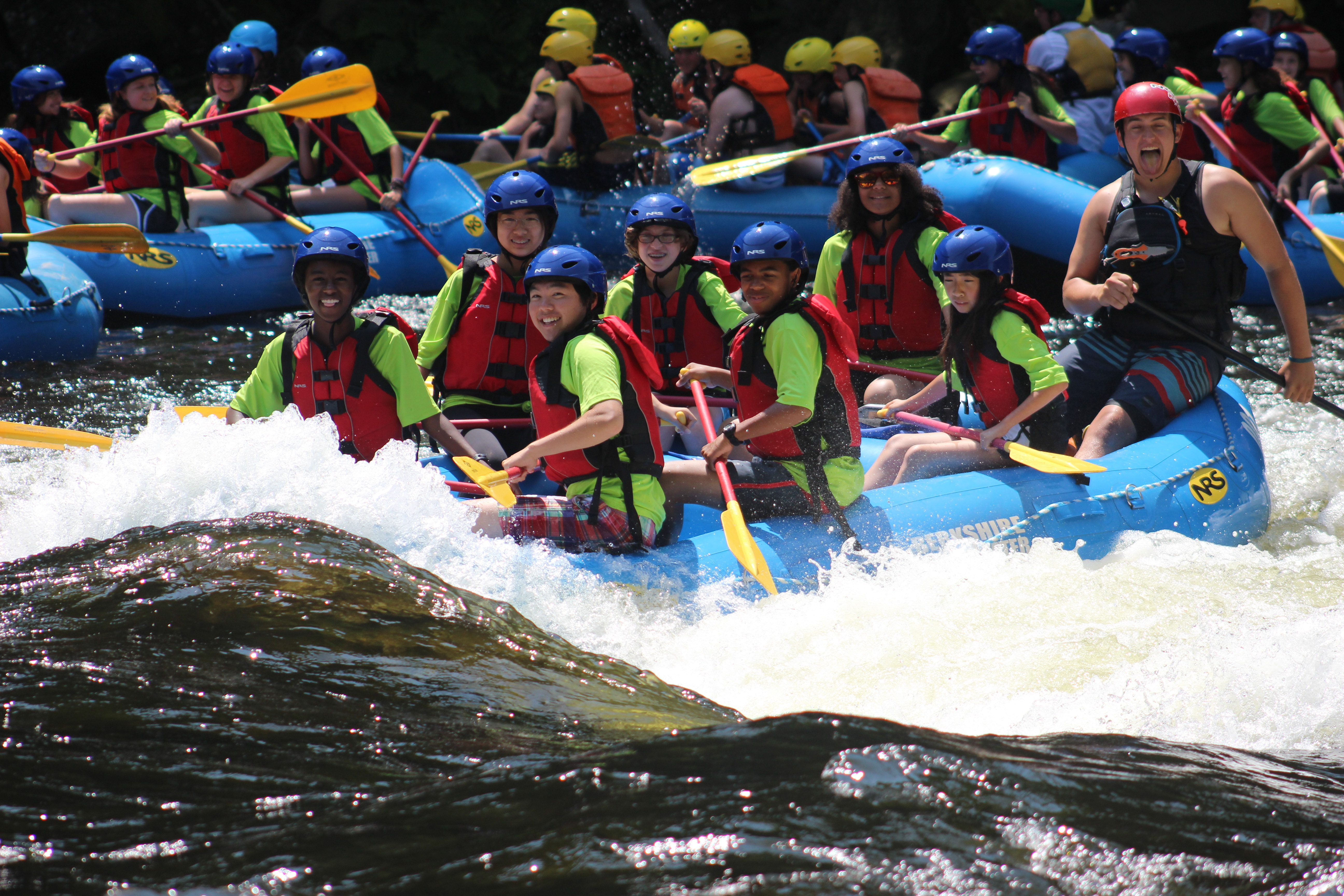 Our middle school students took a break from studies to raft down the Deerfield River.