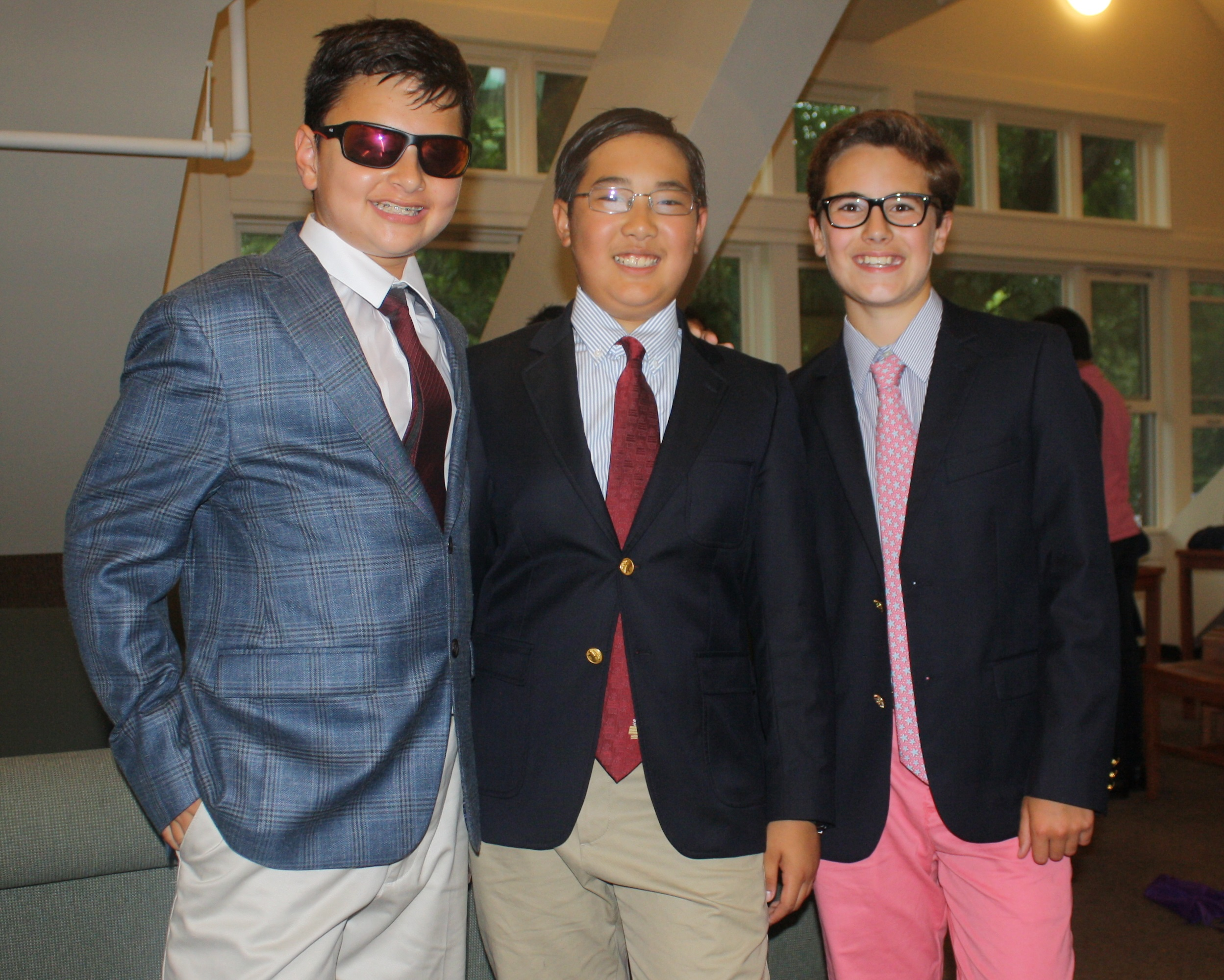 These three clean up well for middle school boys. They are ready for our Summer Program dance party!