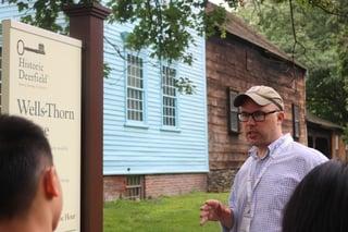 Architecture students visit Historic Deerfield