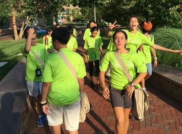 Students exploring Deerfield Campus