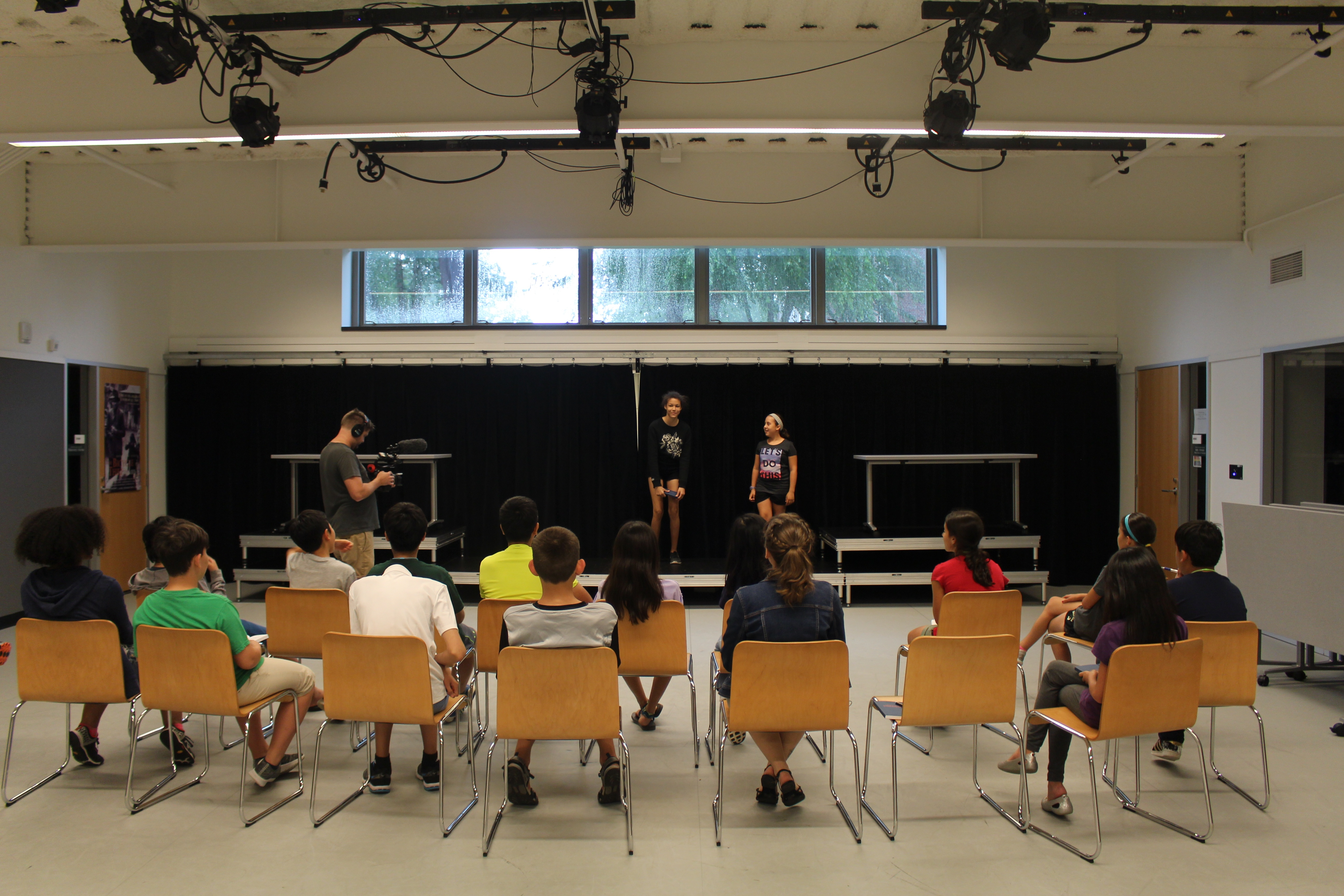 Students perform for their classmates in Theater + Electronics class.