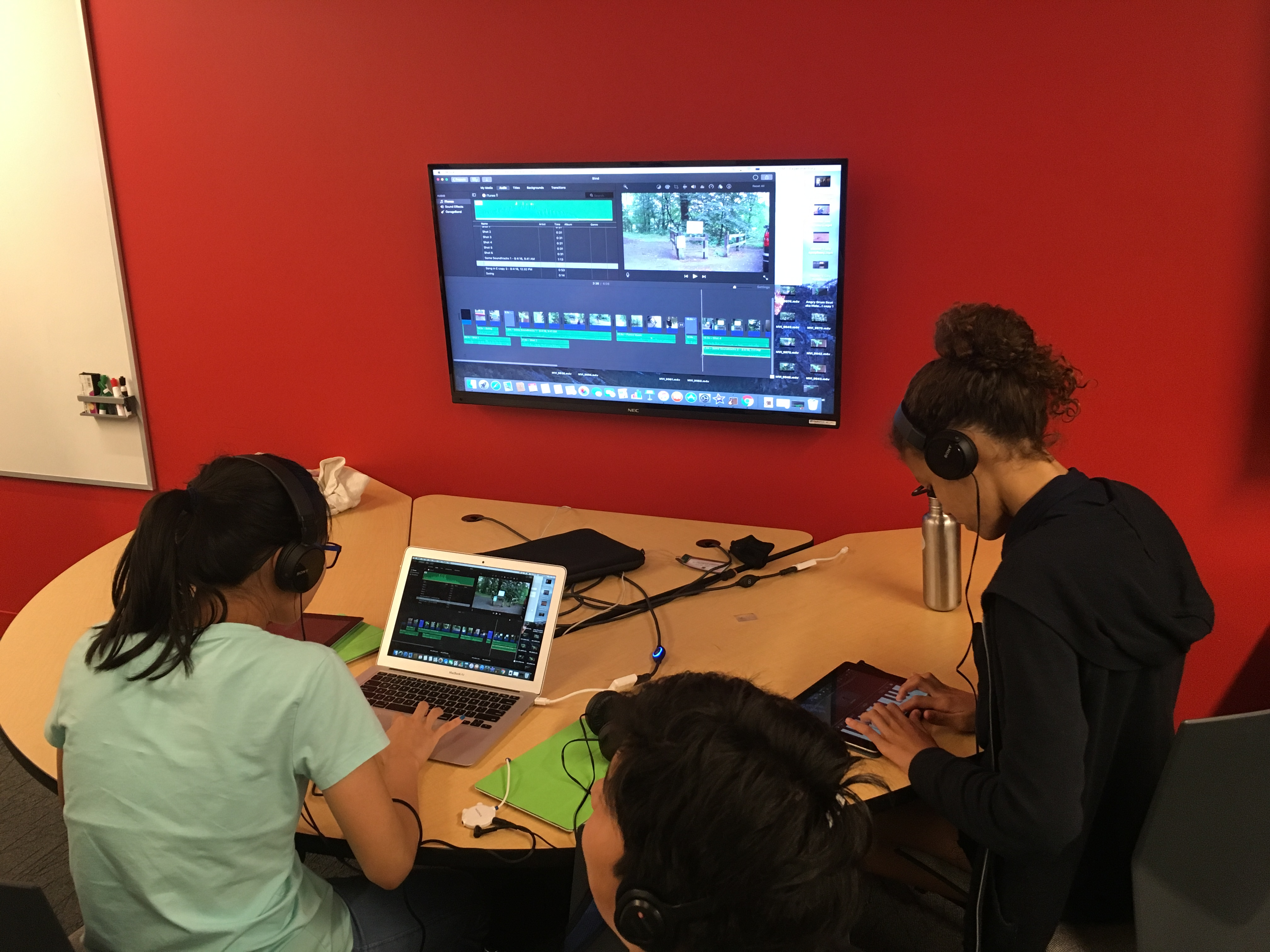 Music + Film students are hard at work composing a score and producing a movie to show their parents on Friday.