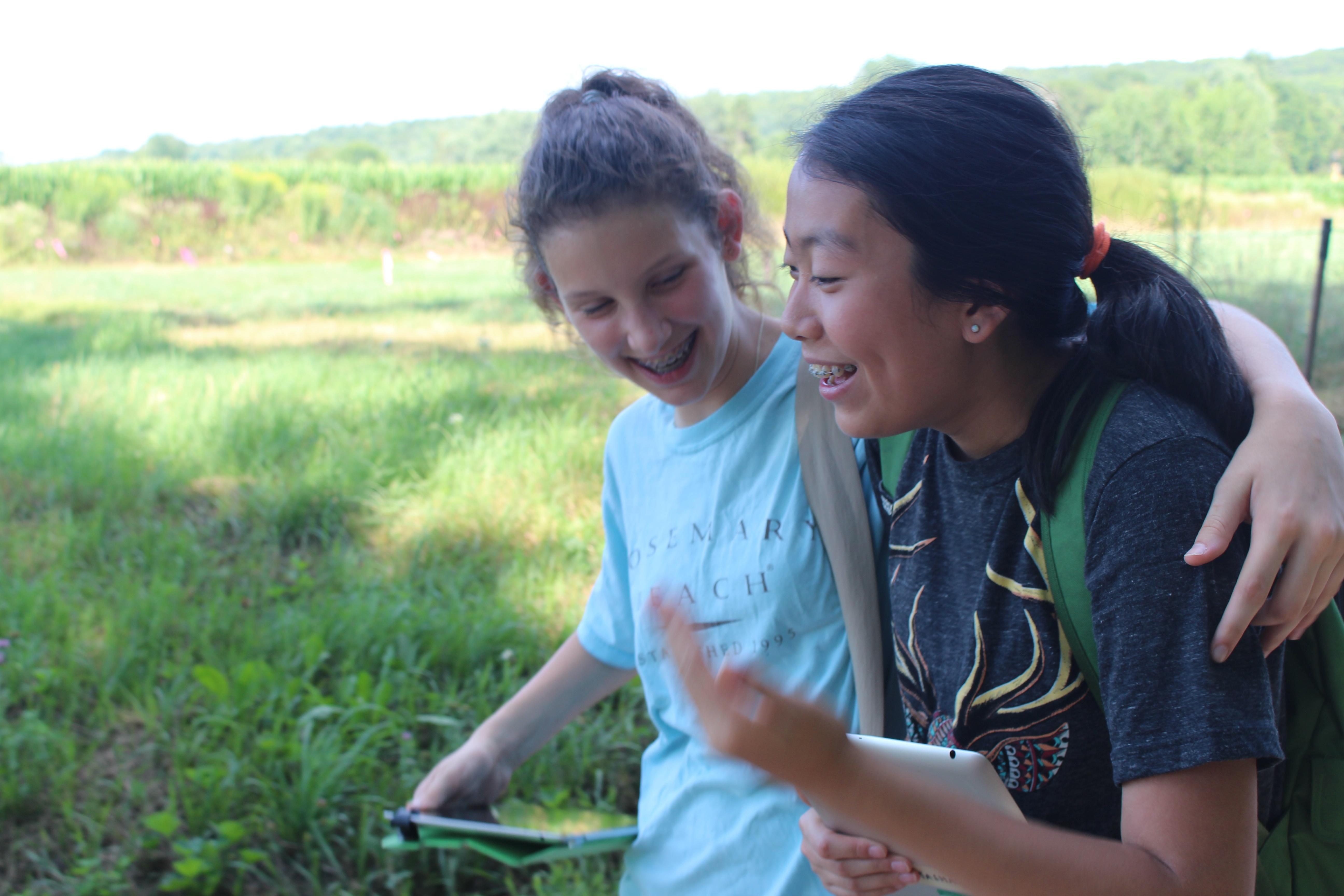 Natasha and Lucia in the Nature Walk co-curricular