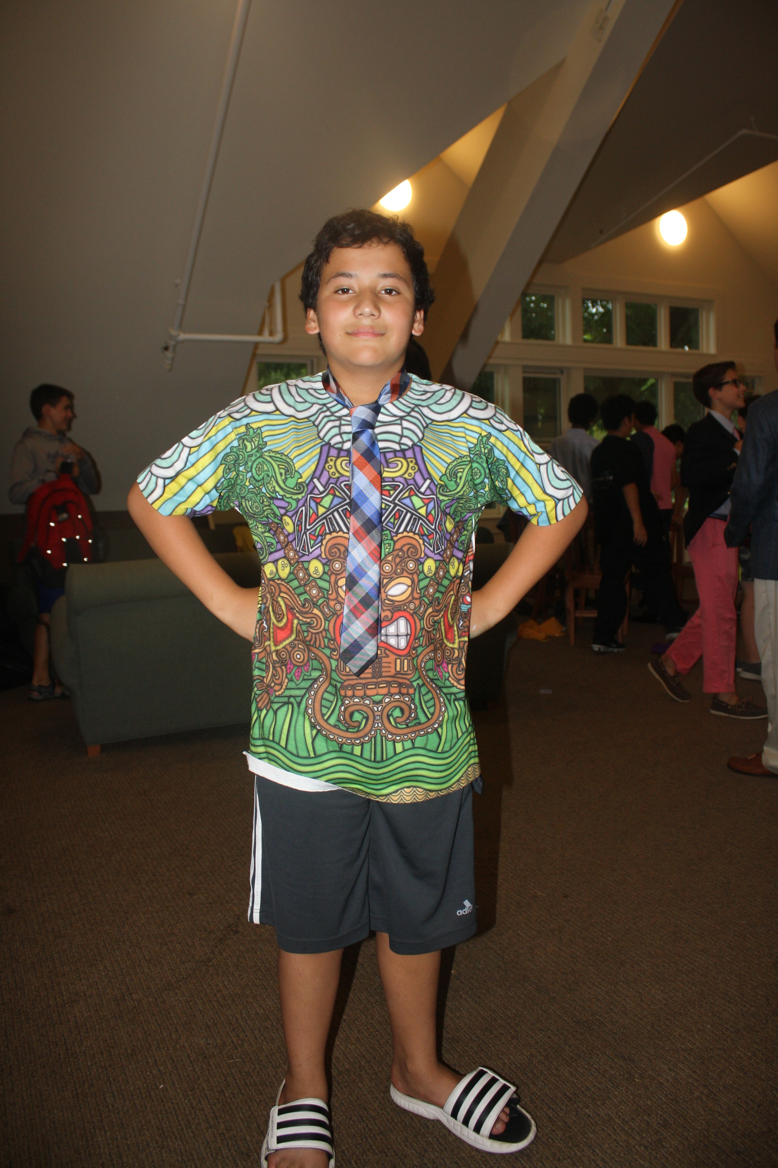 Spencer wears unique attire to our Experimentory Dance