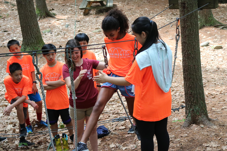 middle school girl ropes course summer program international students creativity innovation tech united states boarding school