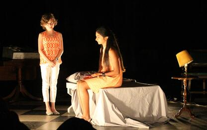 Students perform theater scenes in the final showcase