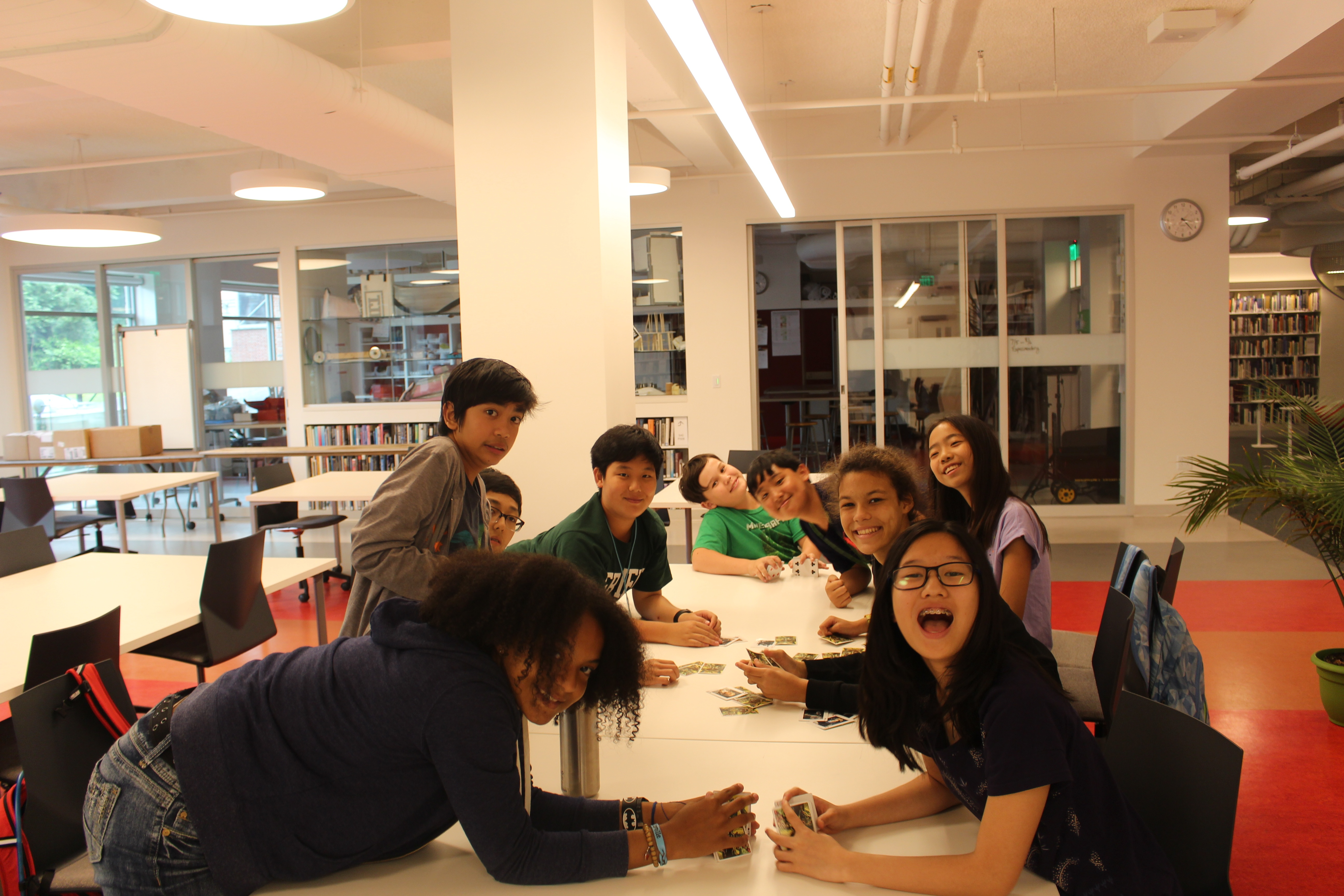 Students enjoying the Library space during freetime.